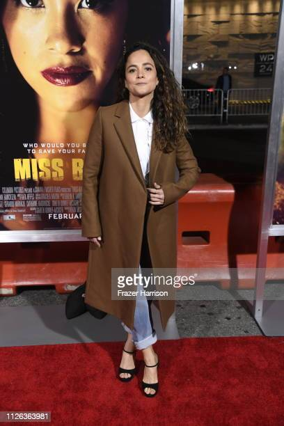 Alice Braga attends the Premiere Of Columbia Pictures' 'Miss Bala' at Regal LA Live Stadium 14 on January 30 2019 in Los Angeles California
