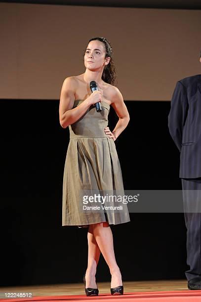 Alice Braga attends the Taormina Arte Award during the Taormina Film Fest 2010 on June 15, 2010 in Taormina, Italy.