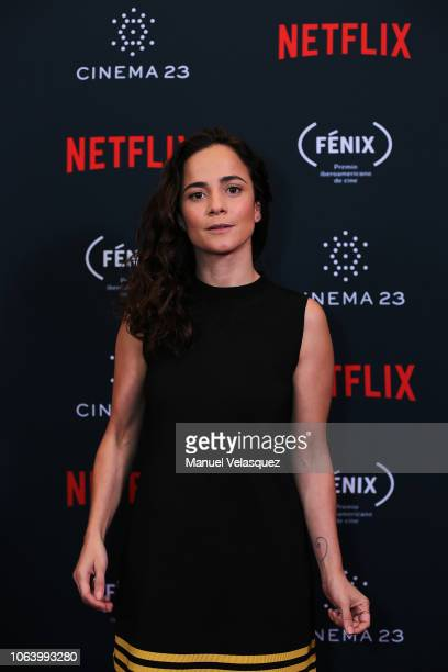 Alice Braga poses for a photo during the first edition of the Netflix Opera Prima awards ceremony at Four Seasons Hotel on November 05 2018 in Mexico...