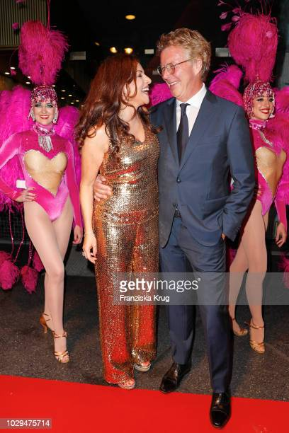 Alice Brauner and HansJoachim Flebbe during the 100th birthday celebration gala for Artur Brauner at Zoo Palast on September 8 2018 in Berlin Germany...