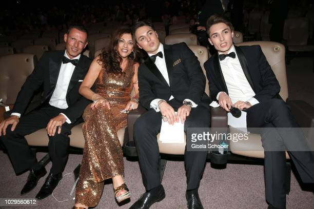 Alice Brauner and her husband Michael Zechbauer and her sons Ben Brauner and David Brauner during the 100th bitrhday celebration gala for Artur...