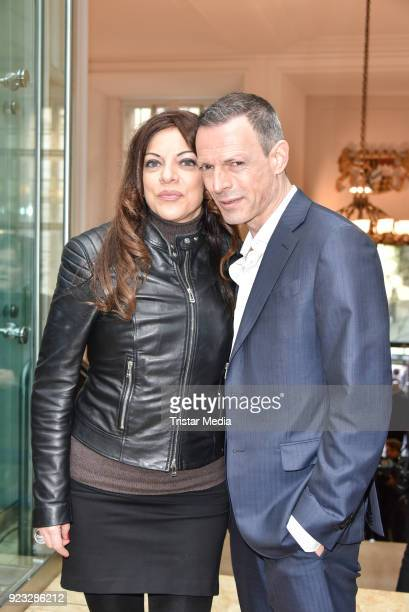 Alice Brauner and her husband Michael Zechbauer at the FFF reception during the 68th Berlinale International Film Festival on February 22 2018 in...