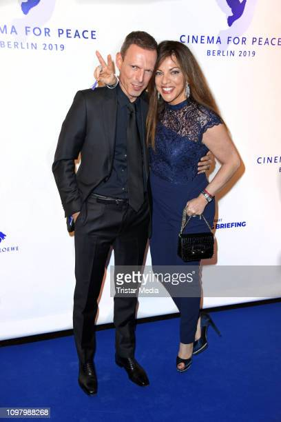 Alice Brauner and her husband Michael Zechbauer attend the Cinema for Peace gala during 69th Berlinale International Film Festival at WECC Westhafen...