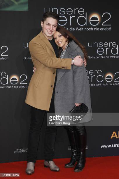 Alice Brauner and her son David Zechbauer during the 'Unsere Erde 2' premiere at Zoo Palast on March 7 2018 in Berlin Germany