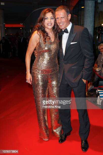 Alice Brauner and husband Michael Zechbauer during the 100th birthday celebration gala for Artur Brauner at Zoo Palast on September 8 2018 in Berlin...
