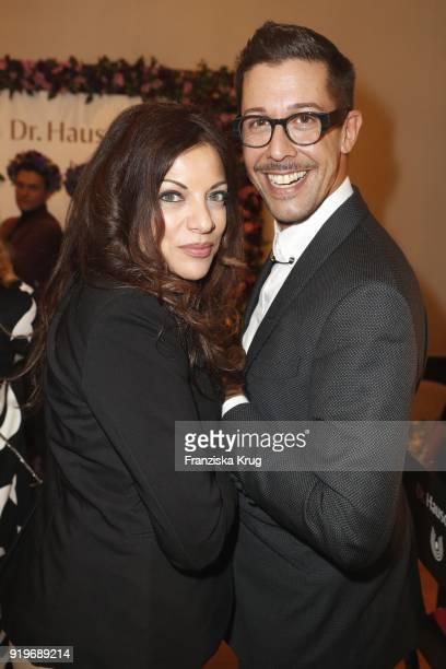 Alice Brauner and Karim Sattar during DrHauschka at the Medienboard BerlinBrandenburg Reception during the 68th Berlinale International Film Festival...