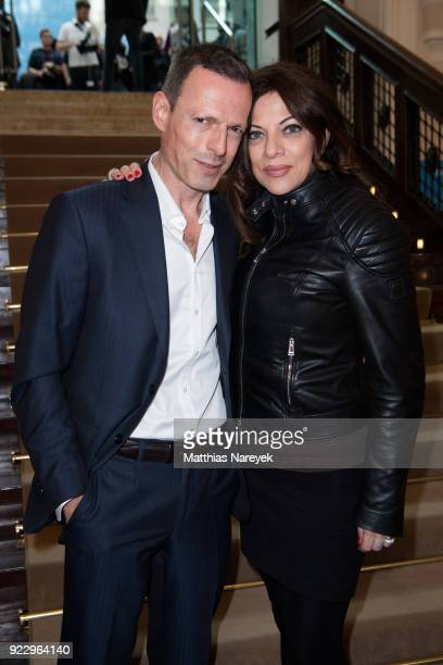 Alice Brauner and Michael Zechbauer are seen at the FFF reception during the 68th Berlinale International Film Festival on February 22 2018 in Berlin...