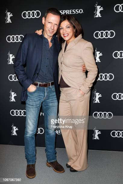 Alice Brauner and Michael Zechbauer at the Audi Berlinale Brunch during the 69th Berlinale International Film Festival at Berlinale Palace on...