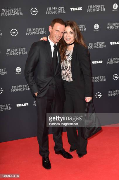 Alice Brauner and Michael Zechbauer during the opening night of the Munich Film Festival 2018 at Mathaeser Filmpalast on June 28 2018 in Munich...