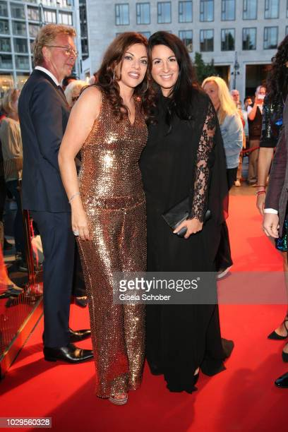 Alice Brauner and Minu BaratiFischer during the 100th bitrhday celebration gala for Artur Brauner at Zoo Palast on September 8 2018 in Berlin Germany...