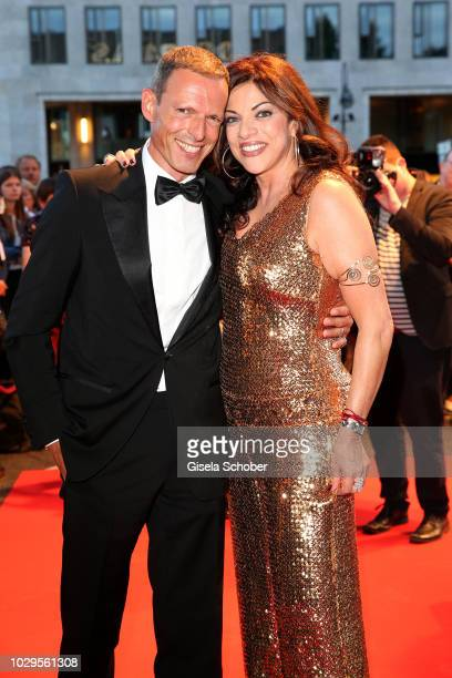 Alice Brauner daughter of Artur Brauner CCC Film and her husband Michael Zechbauer during the 100th bitrhday celebration gala for Artur Brauner at...