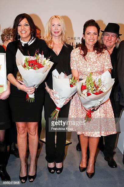 Alice Brauner Feo Aladag Christine Neubauer and Pepe Danquart attend the Deutscher Hoerfilmpreis 2015 on March 17 2015 in Berlin Germany