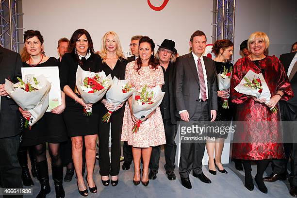 Alice Brauner Feo Aladag Christine Neubauer Pepe Danquart Andreas Bethke Claudia Roth attend the Deutscher Hoerfilmpreis 2015 on March 17 2015 in...