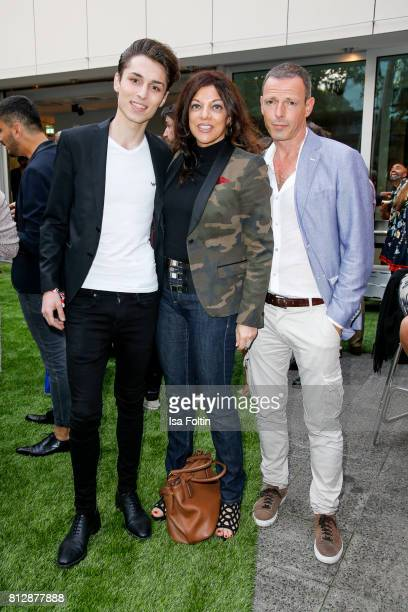 Alice Brauner with her son David Brauner and her husband Michael Zechbauer during the 'True Berlin' Hosted By Shan Rahimkhan on July 11 2017 in...