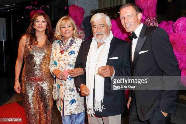 Alice Brauner with husband Michael Zechbauer and Monique Adorf with husband Mario Adorf during the 100th birthday celebration gala for Artur Brauner...