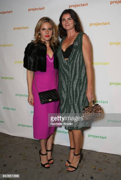 Alice Brophy and Bell Kohen attends ProjectArt My Kid Could Do That Los Angeles Benefit and Exhibition at The Underground Museum on April 6 2018 in...