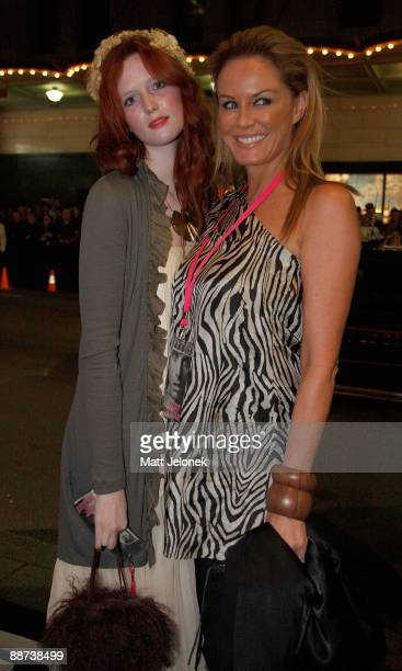 Alice Burdeu and Charlotte Dawson arrive for the official Australian Premiere of the film 'Bruno' at the State Theatre on June 29 2009 in Sydney...