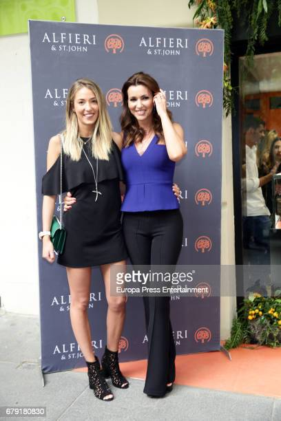 Alice Campello and Arantxa del Sol attend 'Alfieri St Johns' inaguration on May 4 2017 in Madrid Spain