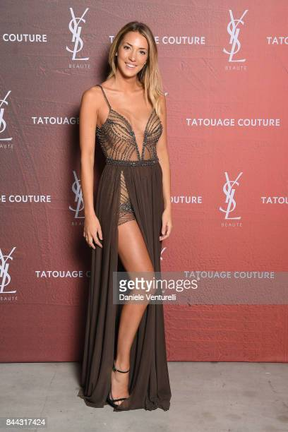 Alice Campello attends the YSL Beauty Club Party during the 74th Venice Film Festival at Arsenale on September 8 2017 in Venice Italy