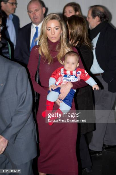 Alice Campello during the official presentation of Alvaro Morata as new player of Atletico de Madrid at Wanda Metropolitano Stadium on January 29...