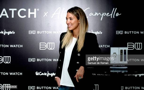 Alice Campello present button watch on September 23 2019 in Madrid Spain