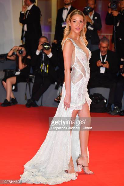 Alice Campello walks the red carpet ahead of the 'Les Estivants ' screening during the 75th Venice Film Festival at Sala Grande on September 5 2018...