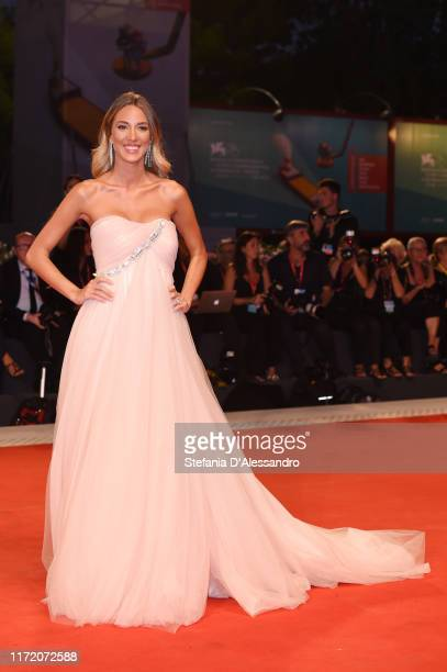 Alice Campello walks the red carpet ahead of the Om Det Oandliga screening during the 76th Venice Film Festival at Sala Grande on September 03 2019...