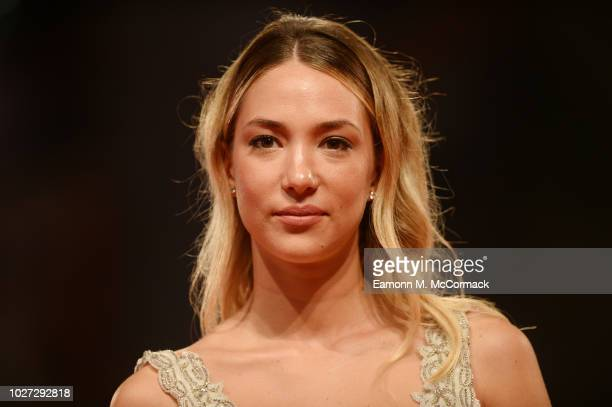 Alice Campello walks the red carpet ahead of the The Summer House screening during the 75th Venice Film Festival at Sala Grande on September 5 2018...