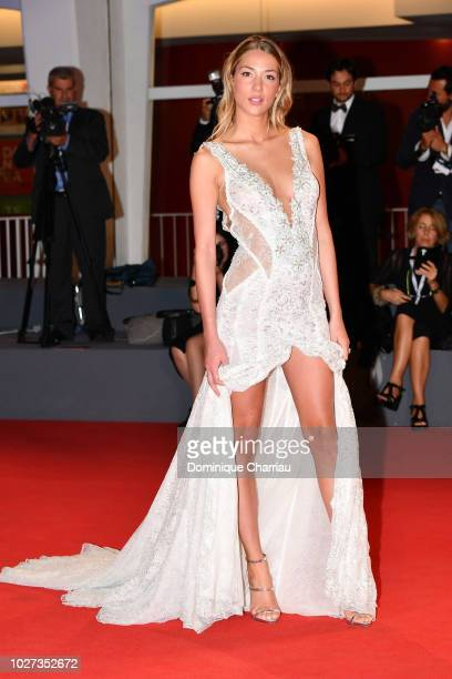 Alice Campello walks the red carpet ahead of the 'The Summer House ' screening during the 75th Venice Film Festival at Sala Grande on September 5...