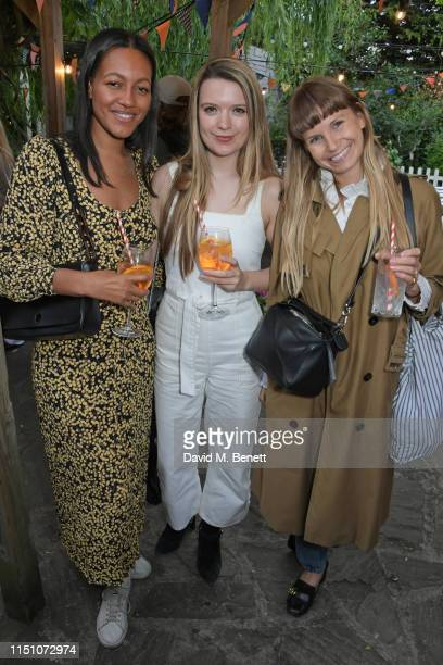 Alice Casely Hayford Katie Berrington and Alice Newbold attend the VIP London launch of the Barbour by ALEXACHUNG collection at The Albion on June 20...