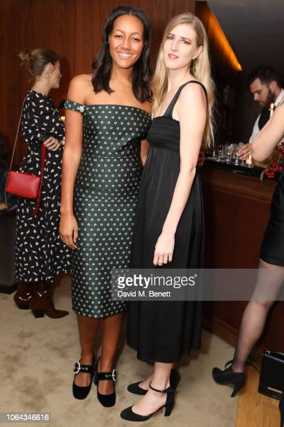 Alice CaselyHayford and Gillian Orr wearing ALEXACHUNG attend Alexa Chung's CHUNGSGIVING dinner to celebrate Thanksgiving and the launch of her...