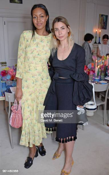 Alice CaselyHayford and Irina Lakicevic attend the NETAPORTER dinner hosted by Alison Loehnis to celebrate the launch of Rosie Assoulin's exclusive...