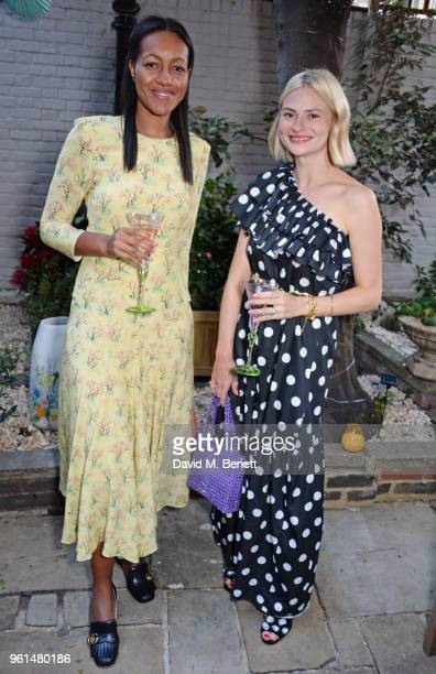 Alice CaselyHayford and Pandora Sykes attend the NETAPORTER dinner hosted by Alison Loehnis to celebrate the launch of Rosie Assoulin's exclusive...