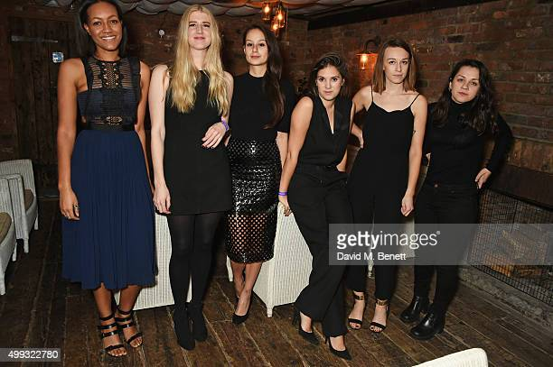 Alice CaselyHayford Gillian Orr Sarah Raphael Kate Ward Anna Jay and Amelia Abraham attend the Refinery 29 UK launch event at Shoreditch House on...