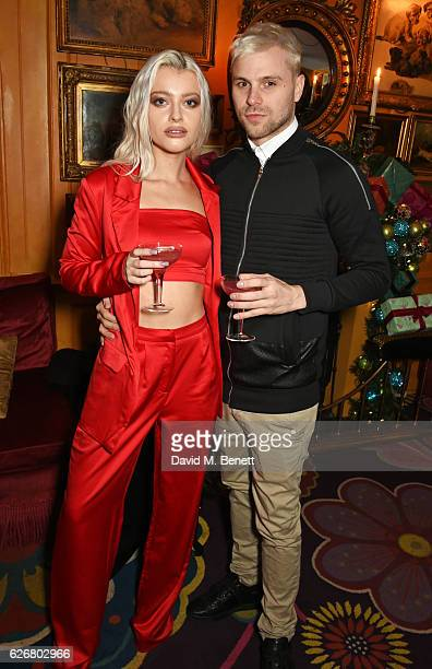 Alice Chater and Kez Knoxa attend the Sunday Times Style Christmas Party at Annabel's on November 30 2016 in London England