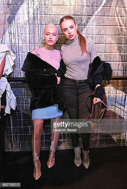 Alice Chater and Xenia Tchoumi attend the launch of the BXR London Gym on January 25 2017 in London England