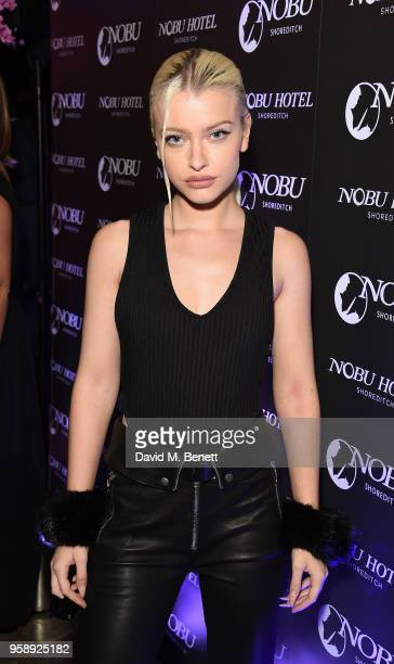 Alice Chater arrives at the Nobu Hotel London Shoreditch official launch event on May 15 2018 in London United Kingdom