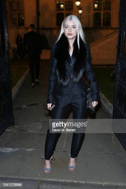 Alice Chater attends a intimate dinner cohosted by LOUIS XIII Vanity Fair celebrating the brand's '100 Years' campaign on September 26 2018 in London...