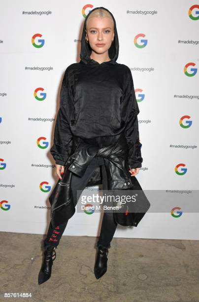 Alice Chater attends Google's Pixel 2 phone launch at The Old Selfridges Hotel on October 4 2017 in London England