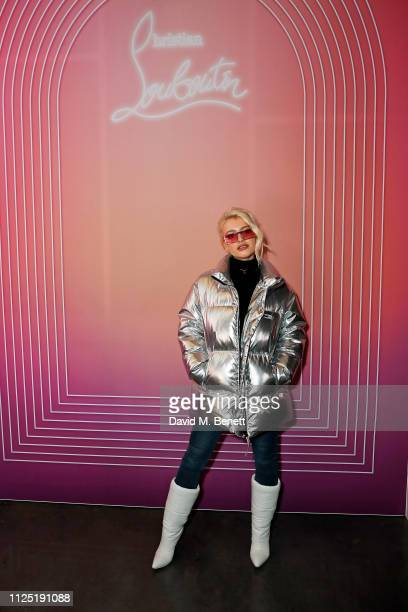 Alice Chater attends the Christian Louboutin Wonderland launch of 'Run Loubi Run' at Unit London on February 15 2019 in London England