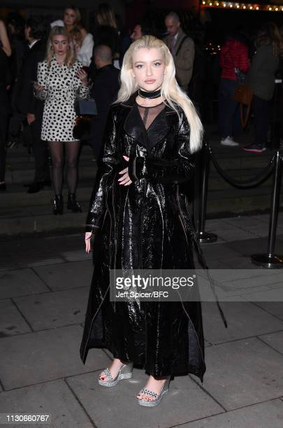 Alice Chater attends the Fabulous Fund Fair during London Fashion Week February 2019 at The Roundhouse on February 18 2019 in London England