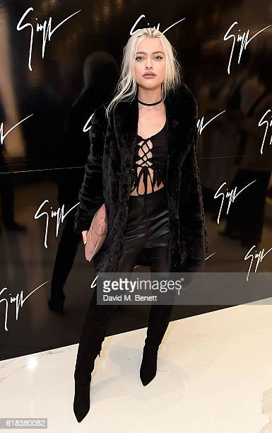 Alice Chater attends the Giuseppe Zanotti London flagship store launch on October 26 2016 in London England