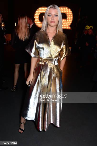 Alice Chater attends the GQ Men of the Year Awards 2018 in association with HUGO BOSS at Tate Modern on September 5 2018 in London England