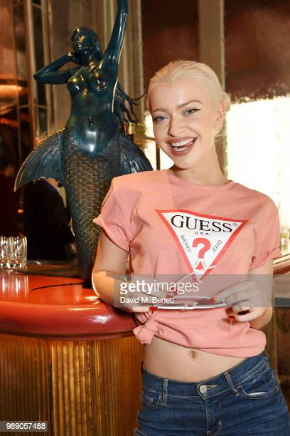 Alice Chater attends The Grimmy Brunch Series at Sexy Fish on July 1 2018 in London England