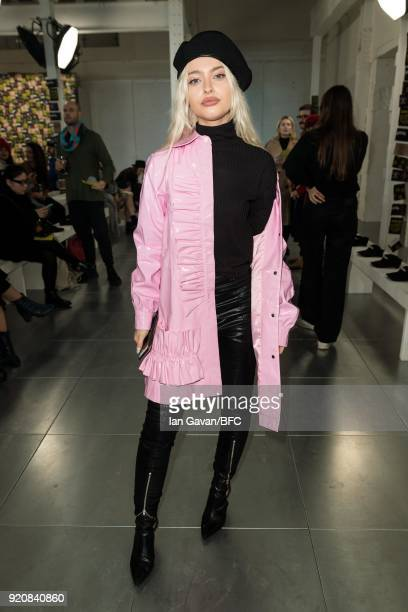 Alice Chater attends the Nicopanda show during London Fashion Week February 2018 at TopShop Show Space on February 19 2018 in London England