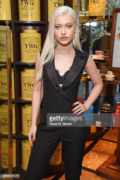 Alice Chater attends the TWG Tea Gala Event in Leicester Square to celebrate the launch of TWG Tea in the UK on July 2 2018 in London England