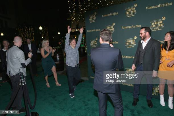 Alice Cogin actor Luke Zimmerman Ollie Wolf producer Dana Brunetti and actor Camille Mana at Jameson First Shot at Paramount Studios on November 4...