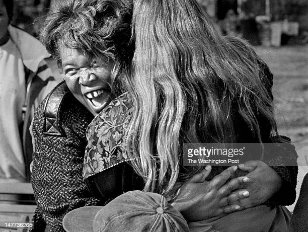 FILE Alice Coles hugs Rhonda Robberecht a fellow board member on the Bayview Citizens for Social Justice in Bayview Virginia on December 21 1998 The...