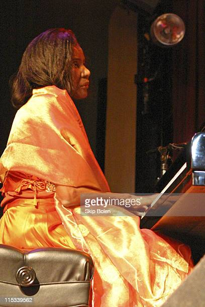 Alice Coltrane during Coltrane Foundation Presents Ravi Coltrane Quartet at the El Rey October 18 2003 at El Rey in Los Angeles California United...