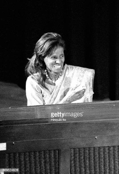 Alice Coltrane on organ performing at Town Hall as part of the Texaco New York Jazz Festival on June 14 1998